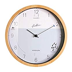 Wall Clock Personalized Non Ticking Battery Operated Japanese Style Round Wood Decoration Silent Child Bedroom Living Room Decor Quartz Clocks