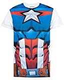 Marvel Superhero Cosplay Capitan America Deadpool Costume Avengers Mens T-Shirt