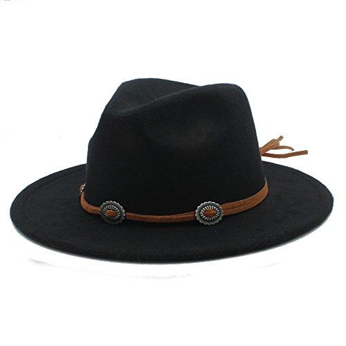 QiuKui Gorra de Vaquero y Sombrero de Copa, Suede Sra. Y Sombrero de H