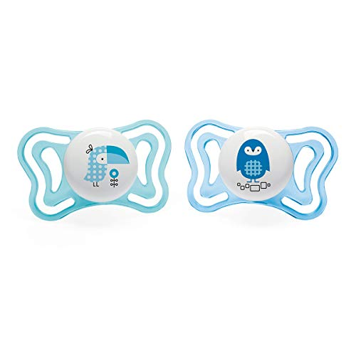 Chicco Physio Light - Pack 2 chupetes silicona 0-6