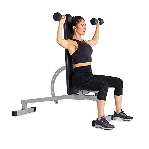 Weider Platinum Adjustable Bench, Black