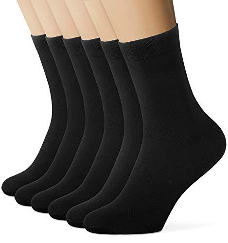 EIISSION Socken Herren 43-46 Schwarz Warme Sportsocken Unisex Business Lange mit Baum-wolle Haltbarkeit für Sport Freizeit 6 Paar