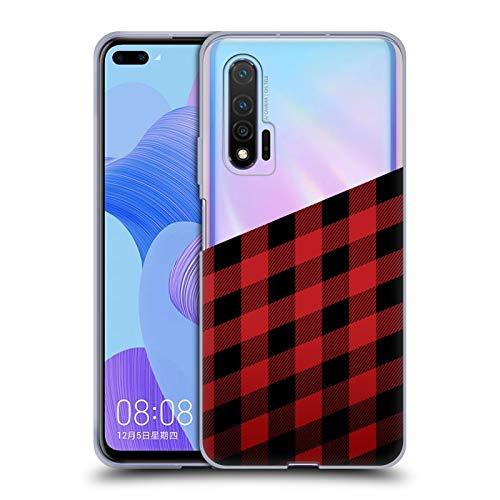 Head Case Designs Ufficiale Nicklas Gustafsson Taglialegna Textures 2 Cover in Morbido Gel Compatibile con Huawei Nova 6