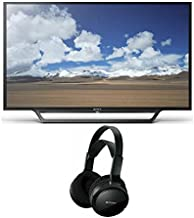 Sony KDL32W600D 32-Inch Built-in Wi-Fi HD TV with MDRRF912RF Home Theater Headphones Bundle (2 Items)