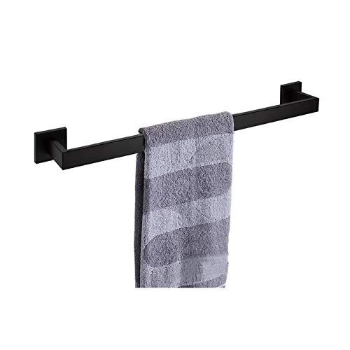 Toalla de Toalla de 24 Pulgadas Rack de Toalla Individual, clásico de Acero Inoxidable de Acero Inoxidable Toalla de baño Toalla de baño Cocina Cocina Cocina Percha de Plato (Color : Black)