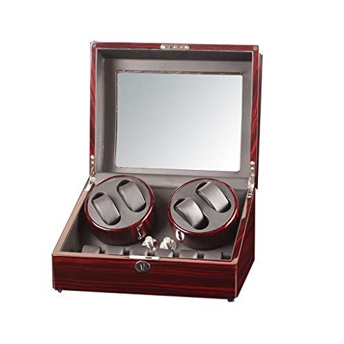 ZFF Girar Rectángulo Automática Watch Winder 6 + 7 Piel De Almacenamiento 5 Rotación Modos De Almacenamiento Caja De Presentación (Color : A)