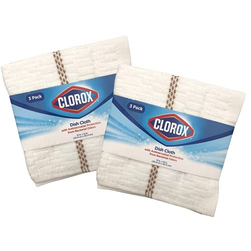 Clorox Dish Cloths - 6 Count (2 Packs of 3 Cloths)