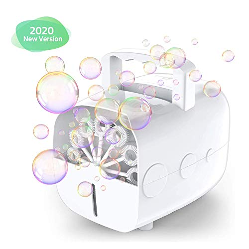 ZSM Portable automatic bubble machine for children, blower batteries bubble or plug for use outdoors or indoors impressive output YMIK