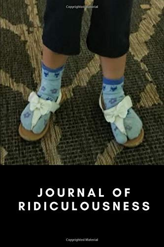 Journal of Ridiculousness - Socks and Sandals are Awful Notebook - 6x9 inches