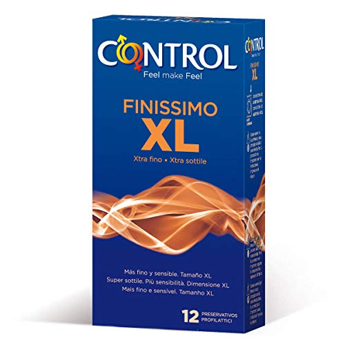 Control Finissimo XL, 12 ultradunne XXL condooms met 57mm breedte