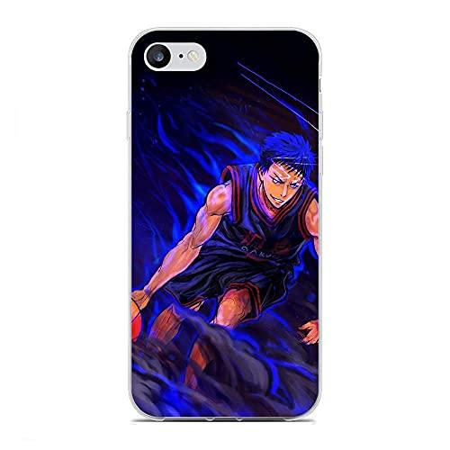 HDDZKA Crystal Slim Silicona Silikon Coque Clear Phone Case para Apple iPhone 6 Plus/6s Plus-Cute-Kuroko Baloncesto 0