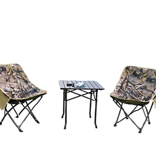 Ensemble De Table Et Chaises Pliantes en Plein Air, Chaise De Plage De Camping Portable pour Barbecue De Voiture Portable, Chaise De Papillon De Camouflage De Pêche