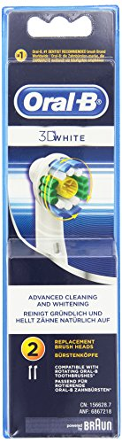 Braun Oral-B testina di ricambio 3D bianco set da 2 pz.