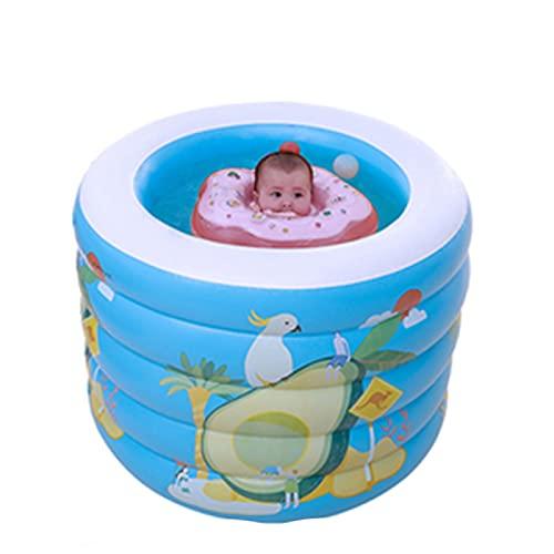 YAHAO Aufgeblasenes Schwimmbad,96x96x73cm Aufblasbare Schwimmbäder Spree Verdickte Schwimmkübel Spree Innen- und Außenschwimmbäder für Kinder,B