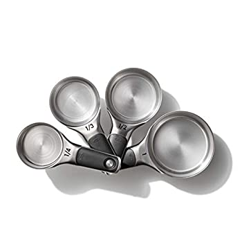 OXO Good Grips 4 Piece Stainless Steel Measuring Cups with Magnetic Snaps
