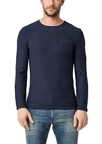 s.Oliver Herren 13.810.61.5127 Pullover, Blau (Night Blue Melange 59w0), Medium