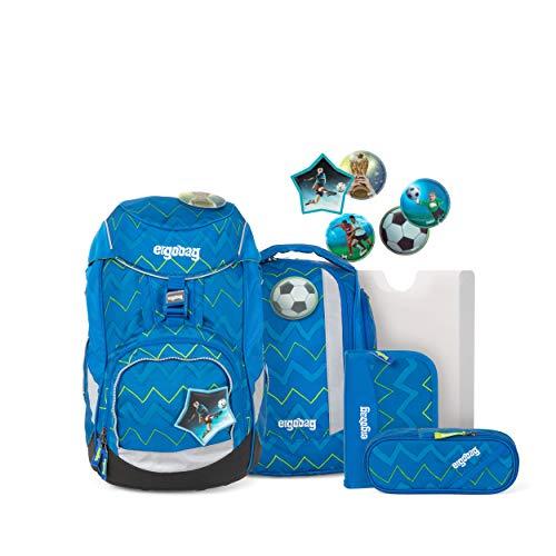 ergobag pack Set - ergonomischer Schulrucksack, Set 6-teilig - LiBäro 2:0 - Blau