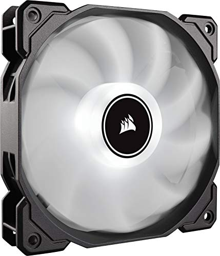 Corsair AF120, Air Series, 120mm LED Ventilateur Silencieux - Blanc (Pack Individuel)
