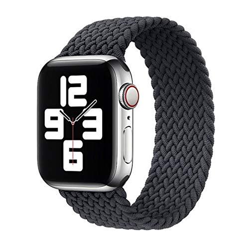 2021, nueva correa elástica de nylon para Apple Watch 6 SE Banda para IWATCH Serie 5 4 3 Pulsera de cinturón trenzado Solo Loop 38mm 40mm 42mm 44mm ( Band Color : Color Grey , Size : 42 44mm S )