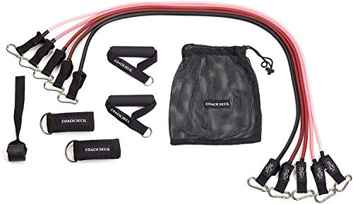 YST Resistance Bands/Fitnessbänder im Set ? 11-teilig (Widerstandsbänder geeignet für Fitness und Krafttraining)
