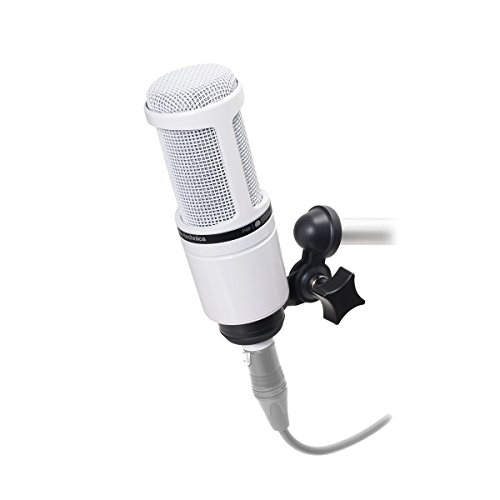 Audio-Technica AT2020WH Micrófono cardioide de condensador, color blanco