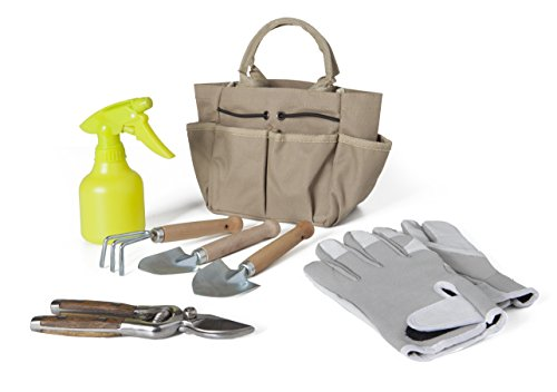Catral 75070004 - Kit de herramientas de jardinería en cesta