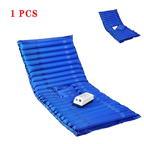 WSN Anti-Decubitus Air Mattress Alternating Pressure Mattress, Air Topper Pad for Bed Sore, Bedridden Treatment Fits Hospital Bed - Includes Electric Pump,without holes