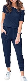 بدلة نسائية قصيرة من QUEENIE VISCONTI - بدلة صيفية كاجوال قصيرة الأكمام للشاطئ سراويل طويلة