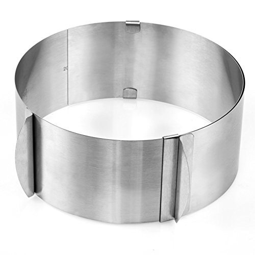 """Blacklip Kitchen Pastry Tools Stainless Steel Mousse Cake Ring Mold (6-12"""" Cake Ring)"""