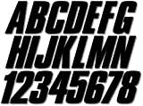 Stiffie Shift Black 3' ID Kit Alpha-Numeric Registration Identification Numbers Stickers Decals for Boats & Personal Watercraft