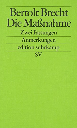 Die Massnahme (German Edition) by Bertolt Brecht(1998-12-31)