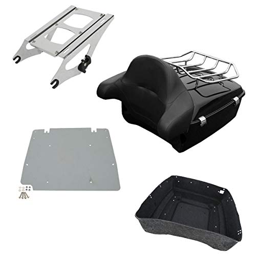 XFMT 13.7' King Tour Pack Trunk Backrest Luggage Rack W/Two-Up Mounting Rack For Harley Touring Tour Pak 2014-2020