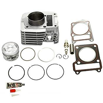 BLACKHORSE-RACING Cylinder Piston Gasket Top End Rebuild Kit Compatible with 2000 2001 2002 2003 2004 2005 Yamaha TTR125 TTR 125