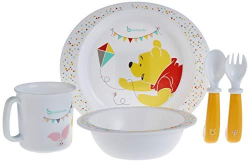 Badabulle Disney Baby Winnie Coffret Repas Bébé 5 Pièces