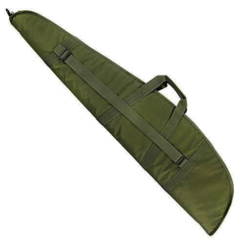 GUGULUZA Tactical Rifle Case Verdickte Long Shotgun Bag Gun Case Perfekt für Jagd und Schießen (Grün - 118 cm)