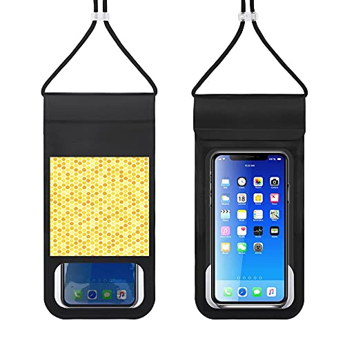 Waterproof Phone Pouch Mobile Phone Package, Cute Bees Nest Cell Phone Case Dry Bag for Swimming Boating Fishing Compatible with All The Phones Below 6.5 inches