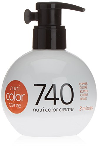 REVLON PROFESSIONAL Nutri Color Crème, 740 Kupfer, 1er Pack (1 x 250 ml)