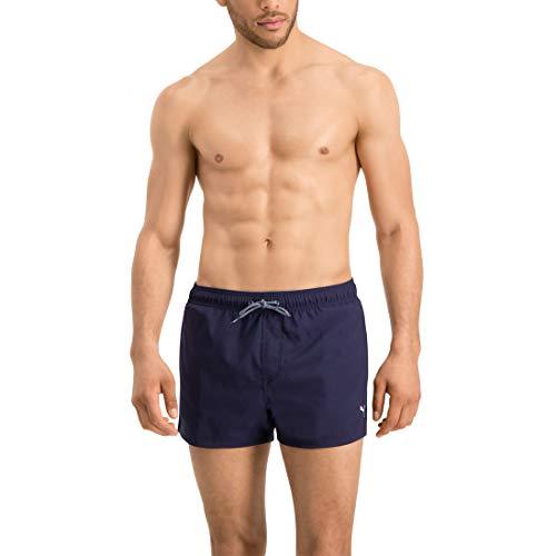 PUMA Herren Badehose Badeshorts Logo Short Length Swim Shorts, Bekleidungsgröße:M, Farbe:Navy