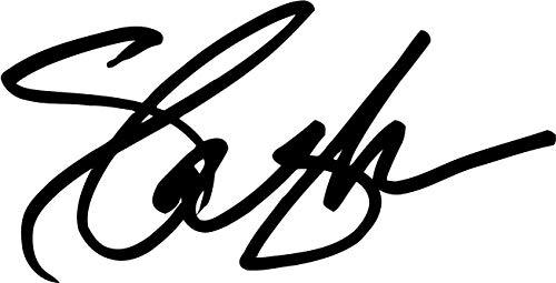Slash Autograph Vinyl Decal Paul Epiphone Gibson Guitar Guns N Rose Sticker