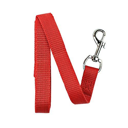 XYBB hondenriem, nylon, tractietouw voor pups, honden, katten, loopriem, trainingslijnen, 7 kleuren, 120x1.5cm,  Azul Y Amarillo