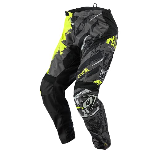 O'NEAL | Motocross-Hose | Kinder | MX Mountainbike | Passform für Maximale Bewegungsfreiheit, Leichtes, Atmungsaktives & langlebiges Design | Element Youth Pants Ride | Schwarz Neon-Gelb | Größe 24