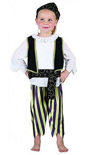 FashioN HuB Disfraz de pirata para nios de Halloween, para nios menores de 4 aos