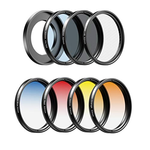 Baluue 7 In 1 Universal Phone Camera lens kit Wide Angle Lens Telephoto Lens Fisheye Lens Starlight Lens for Smart Phone ( 52mm )