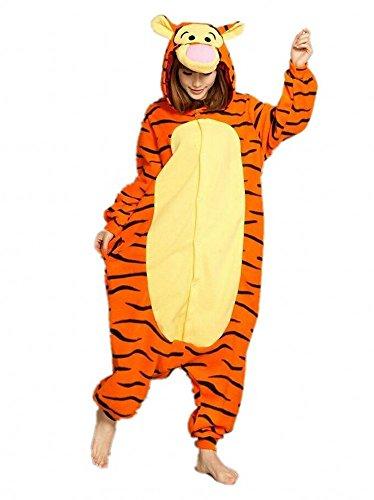 Sweetdresses Adult Unisex Animal Sleepsuit Kigurumi Cosplay Costume Pajamas (Medium, Tigger)