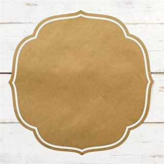 Hester and Cook Gold Medallion Die-Cut Paper Placemat Sheets