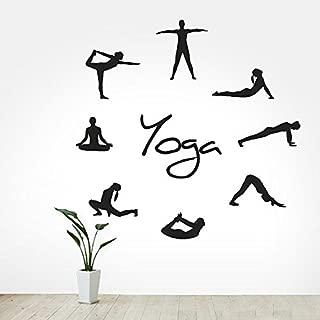 CreativeWallDecals Wall Decal Vinyl Sticker Decals Art Decor Design Sign Yoga Studio 8 Poses Sport Buddha Ganesh Karma Asana ChakrasIndia Om Bedroom (r308)