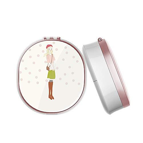 Espejo de mano portátil con instrumento de reposición de agua Nano Spray humidificador facial para el cuidado de la piel
