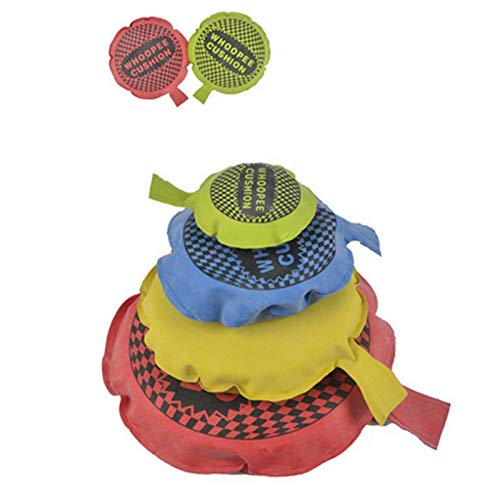 Self Inflating Whoopee Cushions Classic Childs Kids Fun - Whoopie Cushion - Ideal Joke Gift or Stock Filler - Boys Perfect Ideal Christmas Stocking Filler Gift Present (4pcs economical