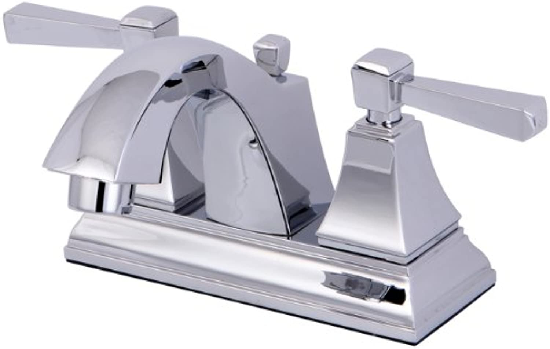 Kingston Brass FS4641DL Monarch 4-Inch Centerset Lead Free Lavatory Faucet with Retail Pop-Up Drain, Chrome