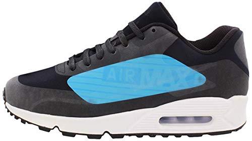Nike Air Max 90 NS GPX Großes Logo Herren Schuhe - Black/Laser Blau/Heritage Zyan, 44.5